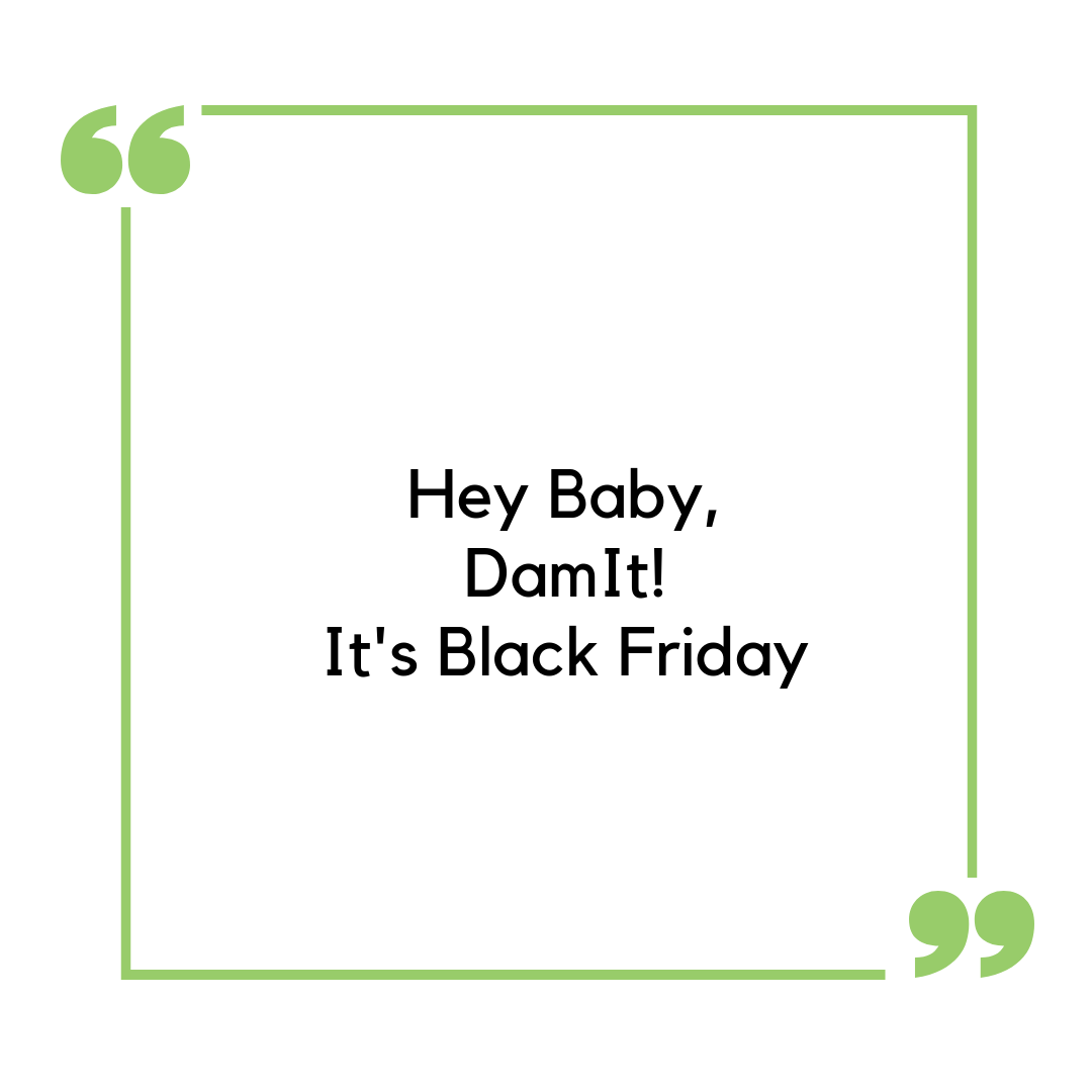 DamIt, It's Black Friday – BabyDam Deals