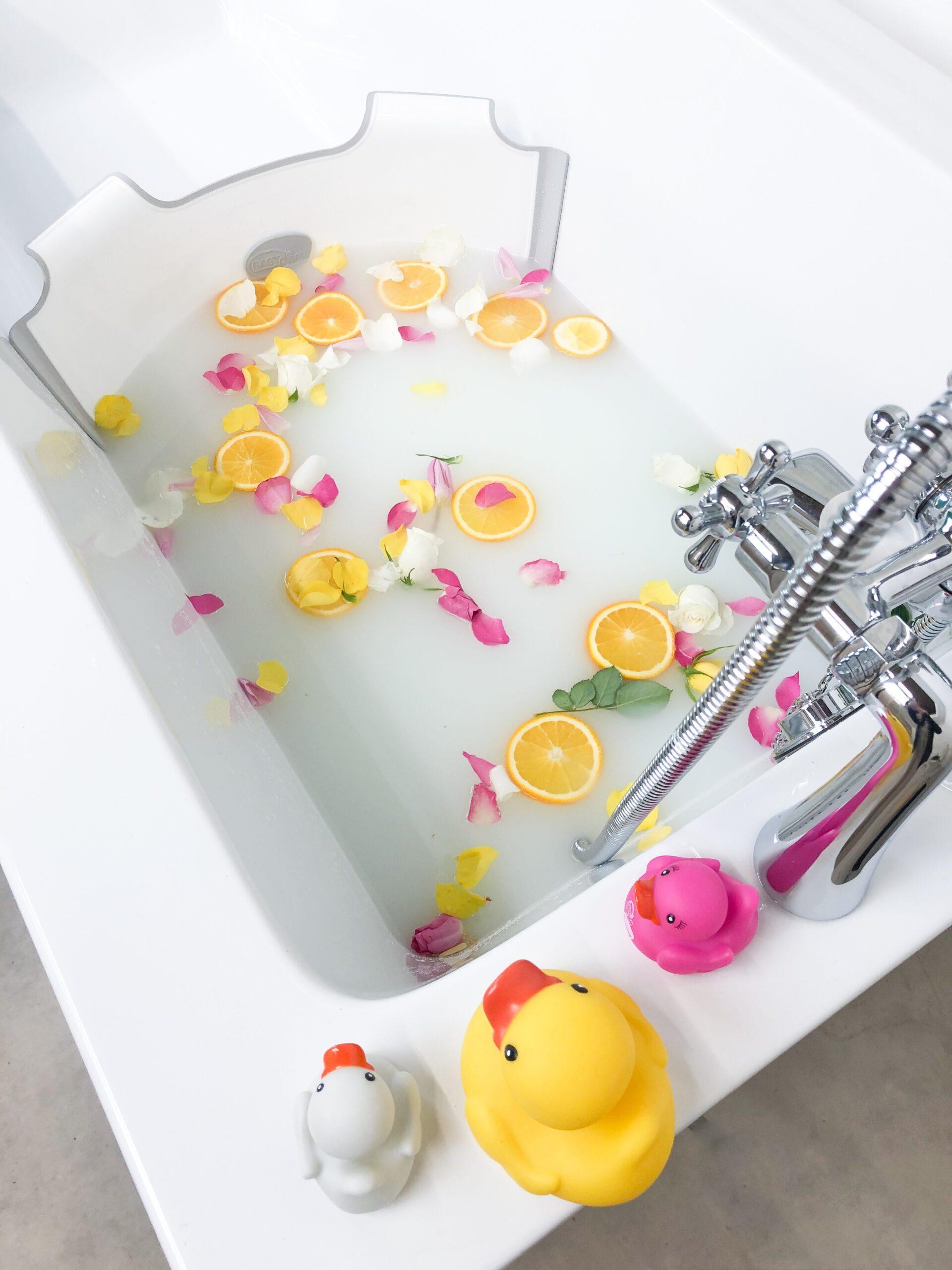 baby milk bath photography